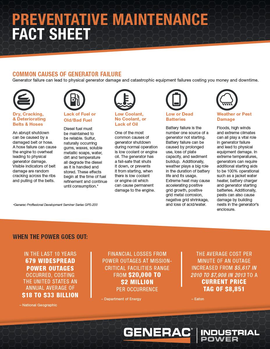 Generator Maintenance Fact Sheet